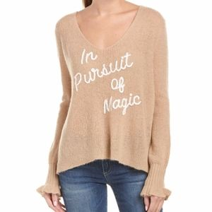 NEW NWT Brown Spellout wildfox in pursuit of magic